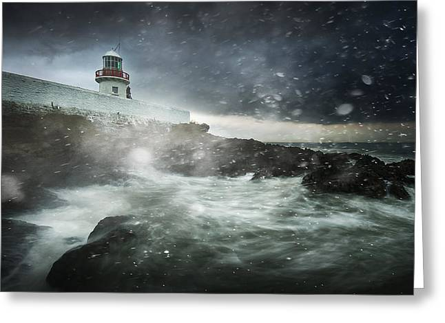 Storm Coming Greeting Card by Marcin Krakowski