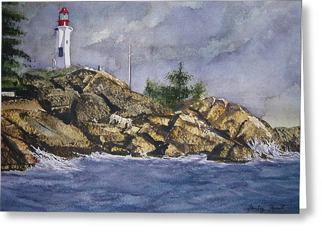 West Vancouver Greeting Cards - Storm Coming Greeting Card by Shirley Braithwaite Hunt