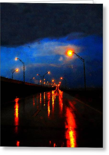 Abstract Rain Greeting Cards - Storm Drive Greeting Card by David Lee Thompson