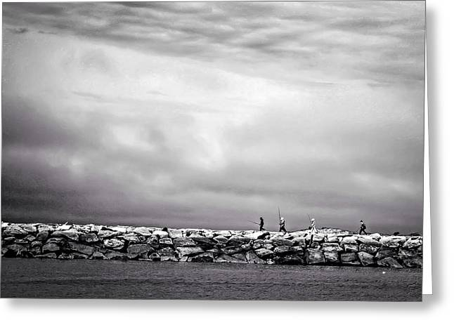 Storm Clouds Cape Cod Greeting Cards - Storm Fishing Greeting Card by DAC Photography