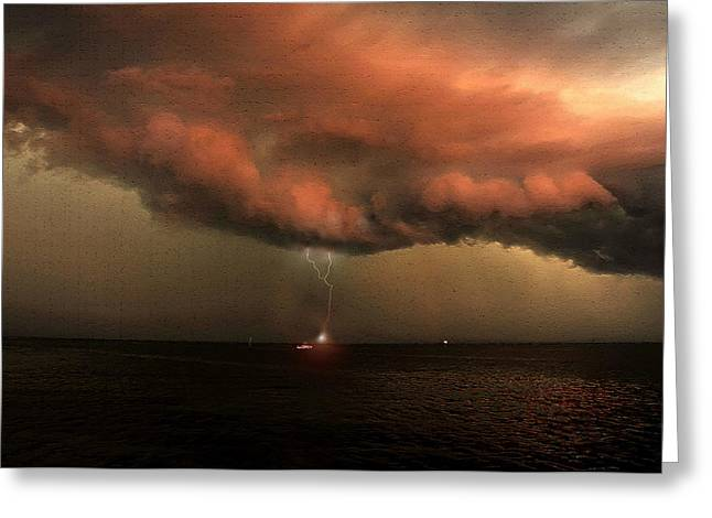 Storm Front Squall Line Greeting Card by David Lee Thompson