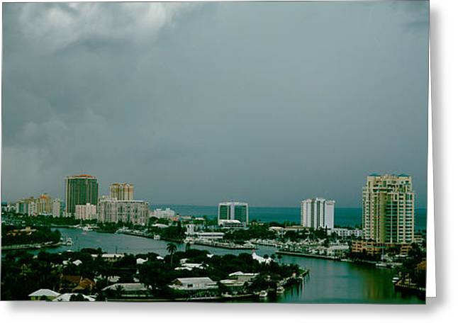 Images Lightning Greeting Cards - Storm Ft Lauderdale Fl Greeting Card by Panoramic Images
