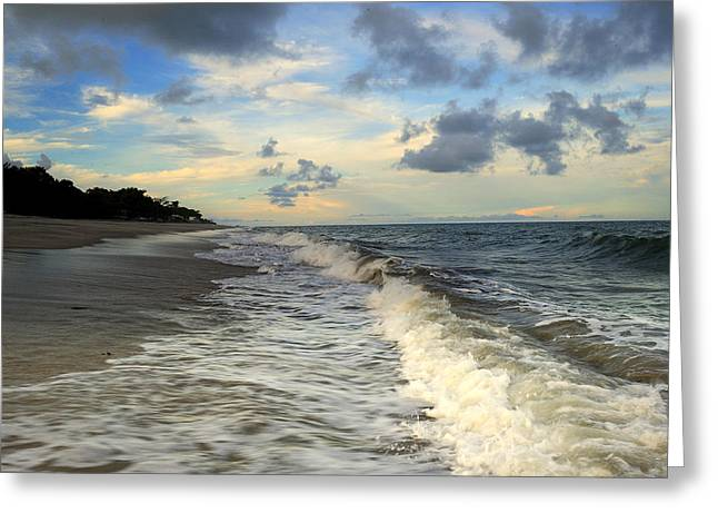 Ocean Landscape Greeting Cards - Storm in the Pacific Ocean Greeting Card by Iris Greenwell