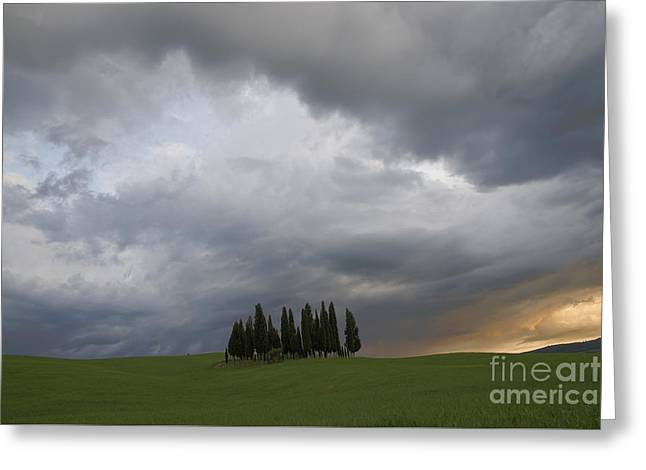 Tuscan Sunset Greeting Cards - Storm in Tuscany  Greeting Card by Yuri Santin