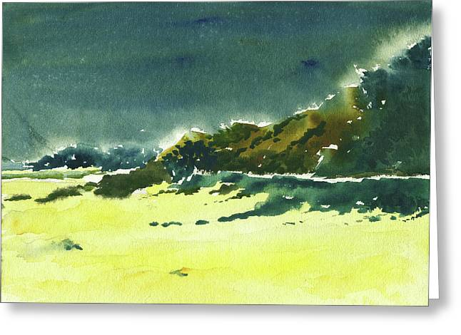 Storm Is Brewing Greeting Card by Anil Nene