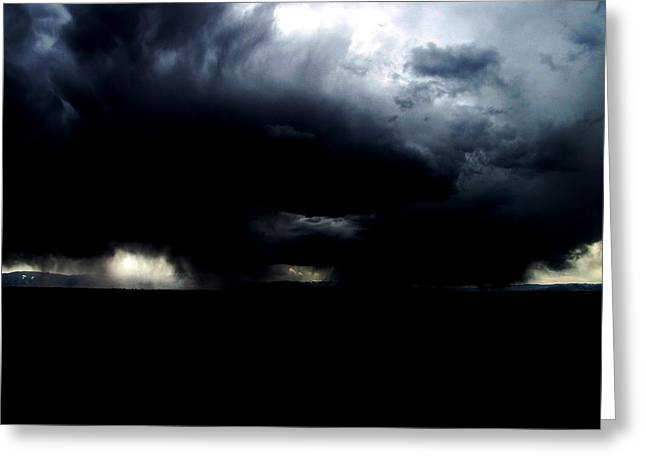Thunderstorm Drawings Greeting Cards - Storm Greeting Card by Kalen malueg