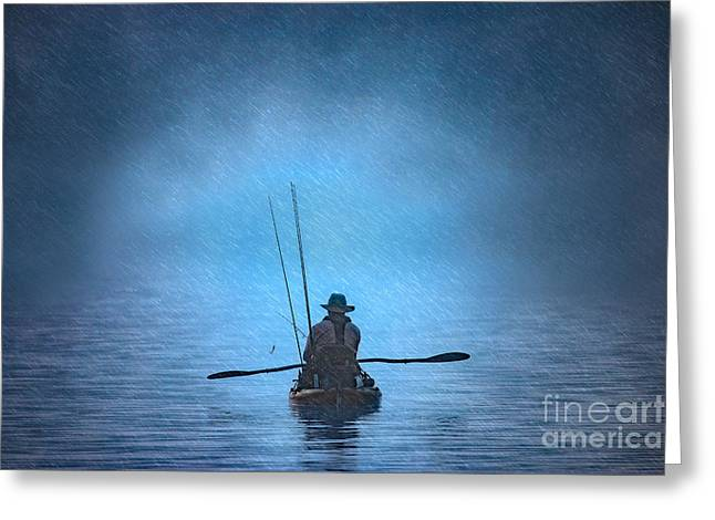 Fishing Creek Greeting Cards - Storm Greeting Card by Larry McMahon