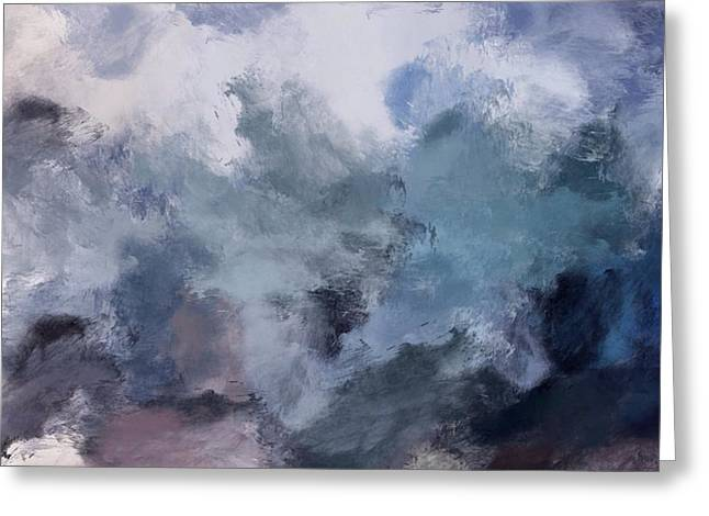 Ocean Shore Mixed Media Greeting Cards - Storm Greeting Card by Mark Taylor