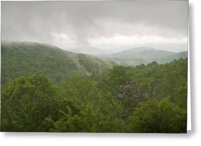 Scuttle Greeting Cards - Storm on Monte Sano Greeting Card by Steve Shockley