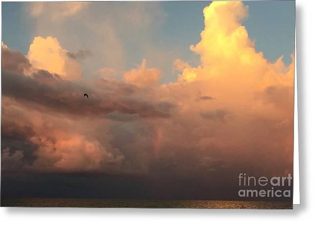 Storm On The Horizon Greeting Card by Judee Stalmack