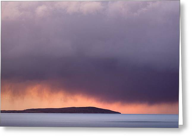 Stormy Weather Greeting Cards - Storm Over Gruinard Bay Greeting Card by Dave Bowman
