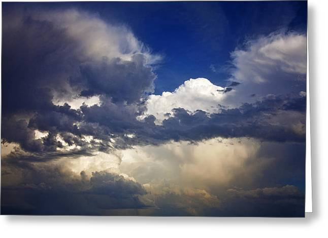 Storm Framed Prints Greeting Cards - Storm over Monument Hill Greeting Card by Toni Hopper