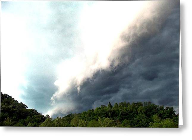 Storm Over Pinkwood Greeting Card by Kay Sawyer