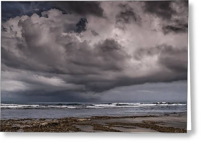 Storm Prints Digital Greeting Cards - Storm over Puerto Viejo Greeting Card by Artist Jacquemo