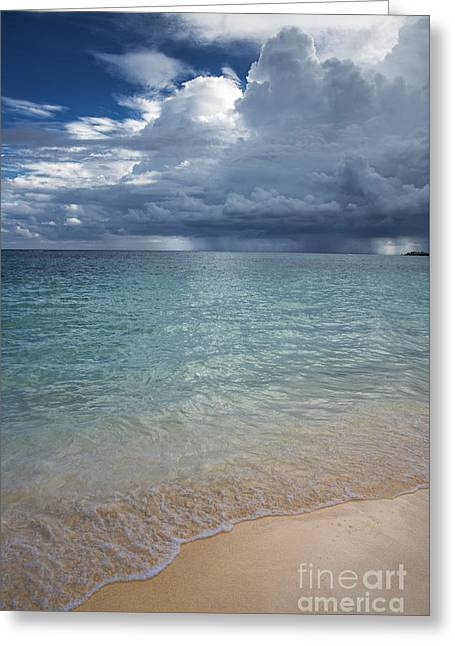 Stormy Weather Greeting Cards - Storm over the caribbean sea Greeting Card by Yuri Santin