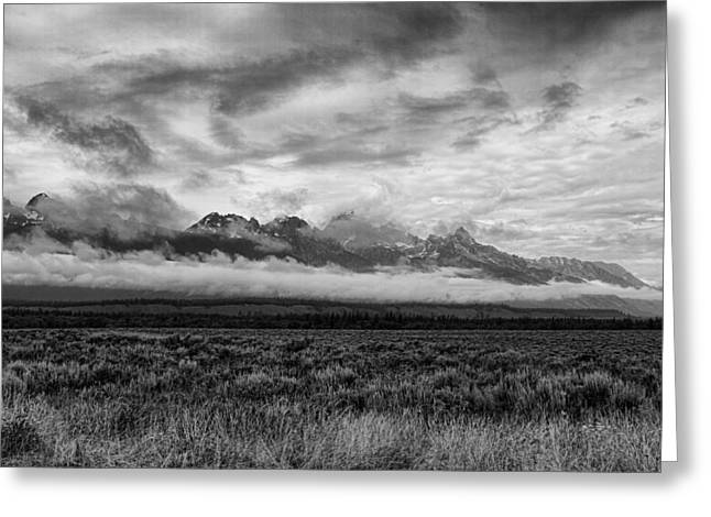 Layer Greeting Cards - Storm Over the Grand Tetons Greeting Card by Hugh Smith