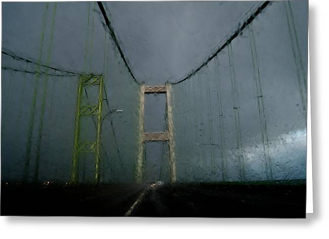 Old Roadway Greeting Cards - Storm Over The Narrows Greeting Card by Jani Freimann