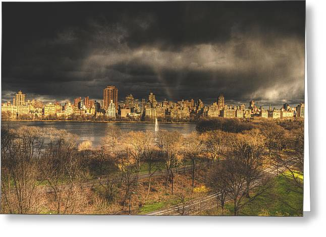 Storm over the park Greeting Card by Ariane Moshayedi