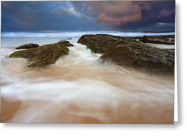 Fleurieu Peninsula Greeting Cards - Storm Shadow Greeting Card by Mike  Dawson