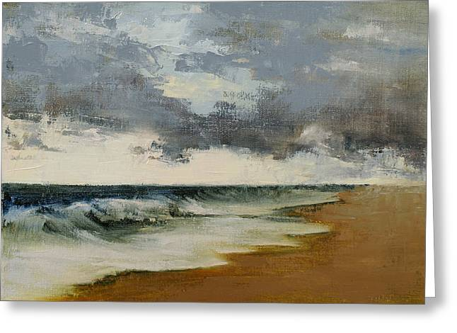 Storm Clouds Cape Cod Greeting Cards - Storm Surge Greeting Card by Andrea Petitto