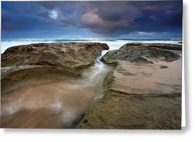 Fleurieu Greeting Cards - Storm Surge Greeting Card by Mike  Dawson