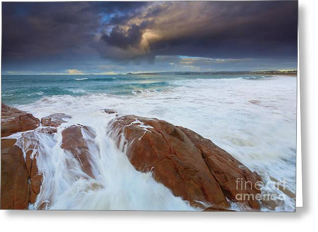 Storm Tides Greeting Card by Mike Dawson