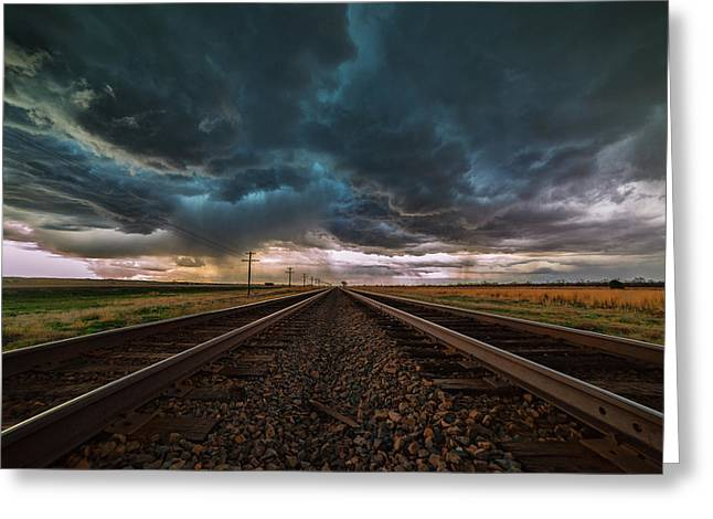 Storm Tracks Greeting Card by Darren  White