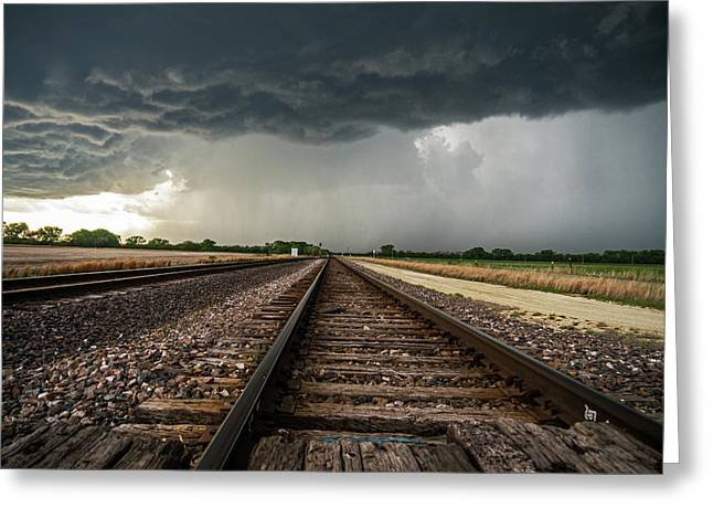 Storm Tracks Greeting Card by Jason Caster
