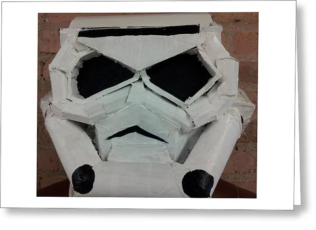 Star Sculptures Greeting Cards - Storm Trooper Greeting Card by William Douglas