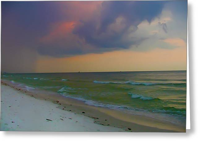 Sand Key Greeting Cards - Storm Warning Greeting Card by Bill Cannon