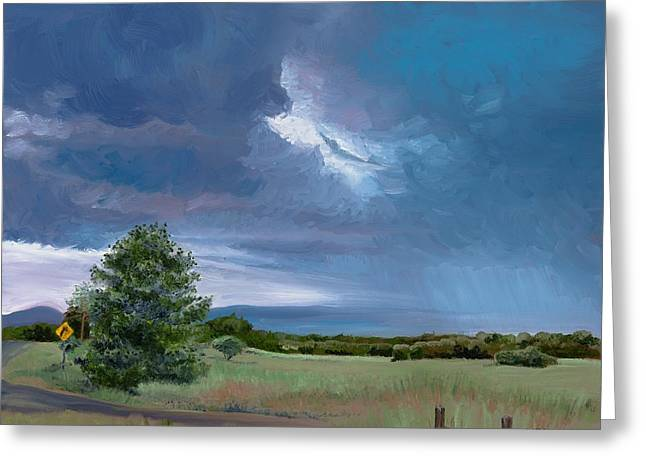 Storm Warning Yell County Arkansas Greeting Card by Cathy France