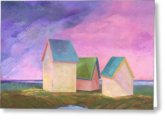 Storm Clouds Cape Cod Greeting Cards - Storm Watch Greeting Card by Sherri Starr