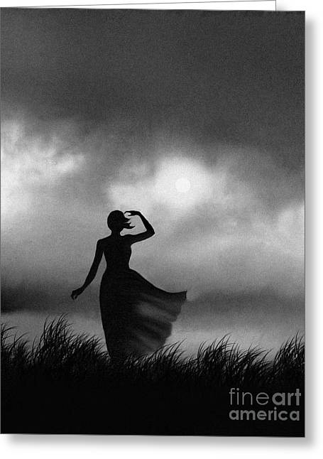 Storm Prints Digital Greeting Cards - Storm Watcher Greeting Card by Robert Foster