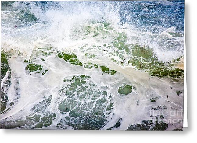 Wild And Scenic Greeting Cards - Storm Wave Greeting Card by Susan Cole Kelly