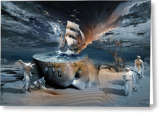 Stormbringer Greeting Card by George Grie