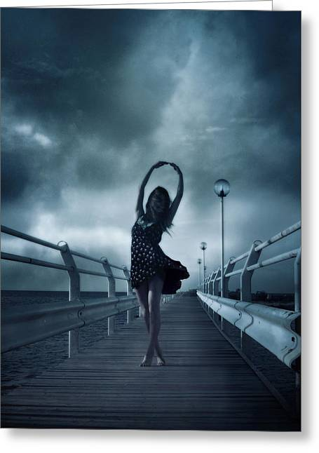 Stormdance Greeting Card by Cambion Art