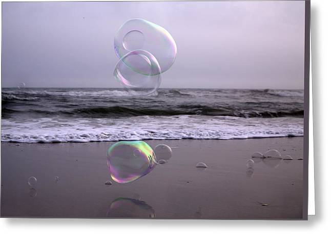 Storming Bubbles Greeting Card by Betsy Knapp