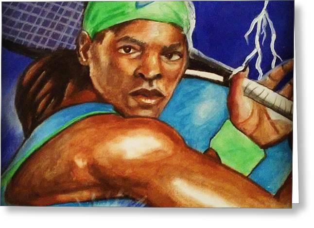 Storming Serena Greeting Card by Torben Gray