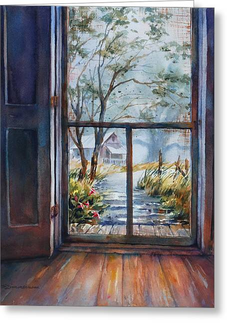 Screen Doors Greeting Cards - Storms a brewin Greeting Card by Sue Zimmermann