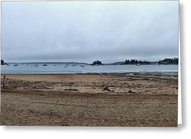 Maine Beach Greeting Cards - Storms and Low Tide 1 Greeting Card by John Trommer