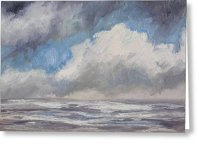 Top Seller Greeting Cards - Storms Comin Greeting Card by Julie Rumsey