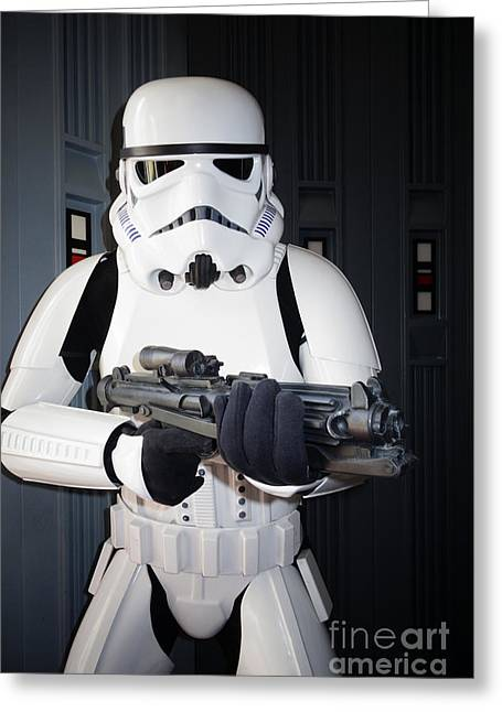 Award Greeting Cards - Stormtrooper Greeting Card by Nina Prommer