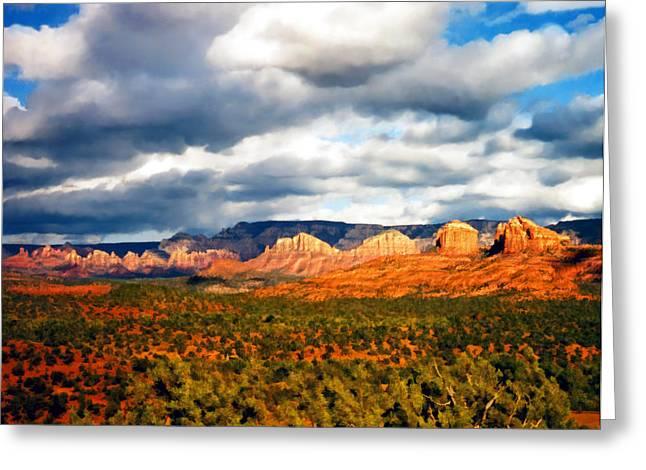 Stormwatch Arizona Greeting Card by Kurt Van Wagner