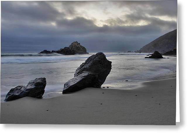 Pfeiffer Beach Greeting Cards - Stormy Afternoon - Big Sur Greeting Card by Stephen  Vecchiotti