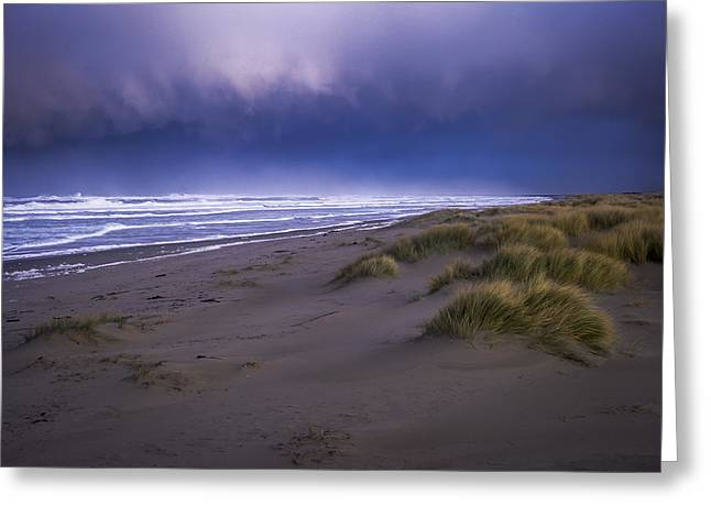 Winter Storm Greeting Cards - Stormy Beach Greeting Card by Robert Potts