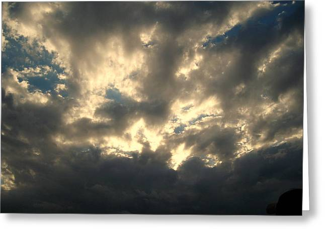 Cotton Balls Greeting Cards - Stormy Clouds Greeting Card by Susanne Van Hulst
