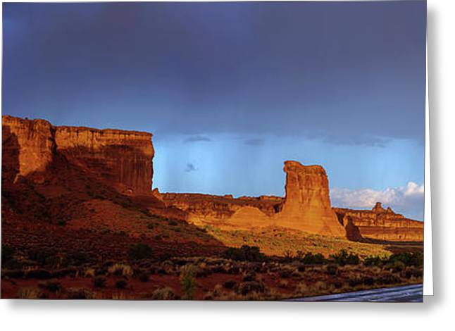 Stormy Desert Greeting Card by Chad Dutson