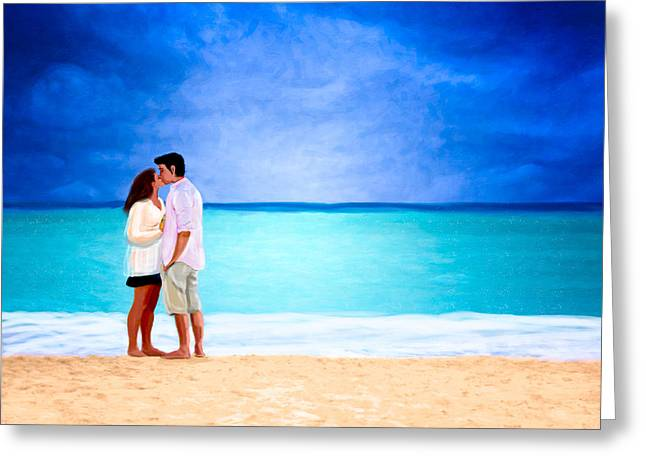Storm Lovers Art Greeting Cards - Stormy Love - Playa Del Carmen Greeting Card by Mark E Tisdale