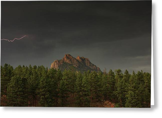 Stormy Mountain Greeting Card by Brian Gustafson