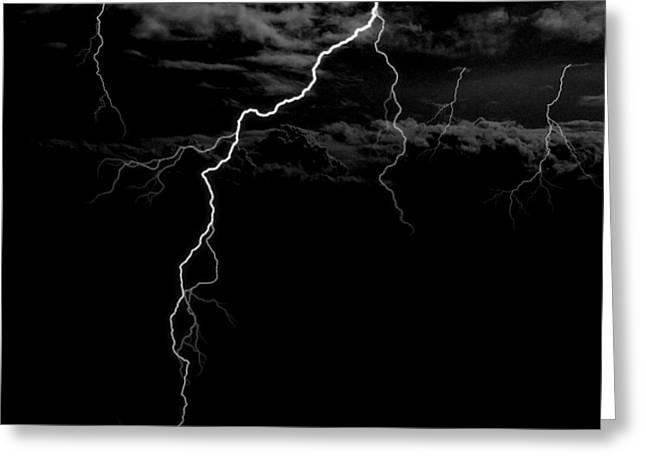 Stormy Night Greeting Card by Brad Scott